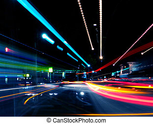 Abstract Night Street Scene