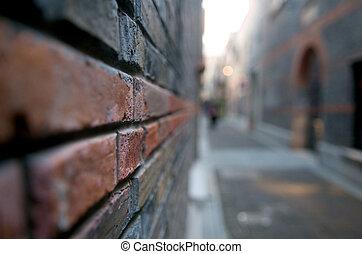 Abstract street corner
