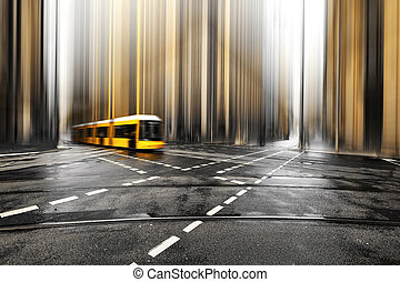 Abstract street of Berlin, Germany, Europe.