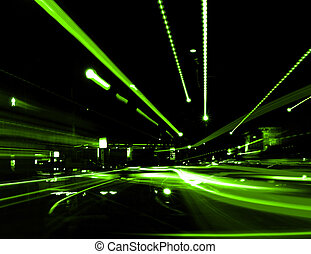 Abstract Street - Zooming Street Lights