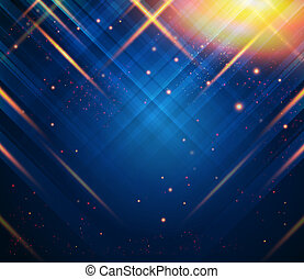 Abstract striped background with light effects. Vector image.