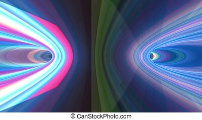 Abstract striped background with rainbow concentric circles
