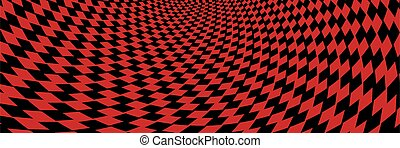 Abstract striped black and red Spiral background