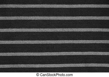 Abstract striped black and white fabric texture