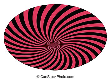 Abstract striped colored spiral