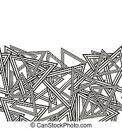 Striped Triangles Pattern