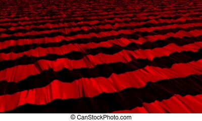 Abstract stripes in red on black