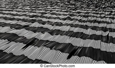Abstract stripes in white on black