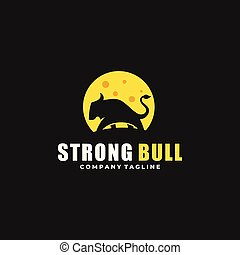 Abstract Strong Bull Design Illustration Vector Template