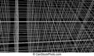 Abstract Structure Grid Animation