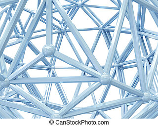 Abstract structure isolated on white background.