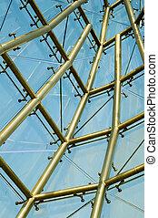 abstract, structuur, van, gebouw