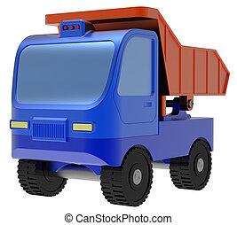 abstract, stuk speelgoed vrachtwagen