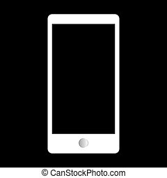 Abstract style modern gadgets with blank screen. Template for an