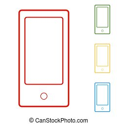 Abstract style modern gadgets with blank screen