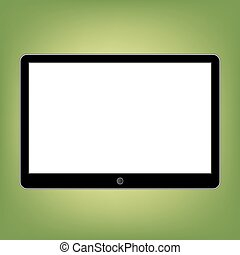 Abstract style modern tablet with blank screen. Template for any content