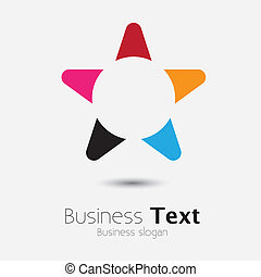 Abstract stylish colorful star icon or symbol- vector graphic