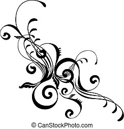 abstract stylish ornament - isolated vector design elements ...
