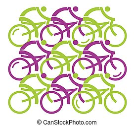 Group of cyclists.