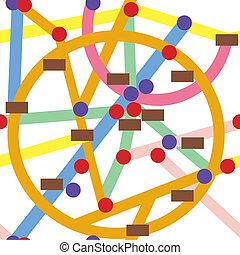 Abstract subway seamless pattern cartoon