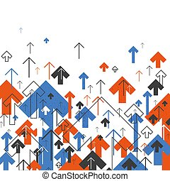 Abstract Success Concept. Growing arrows Illustration....