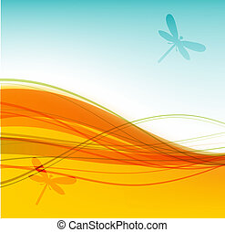 Abstract summer background for your design