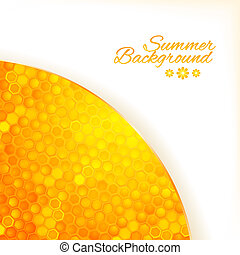 Abstract summer background with honey - Abstract summer ...