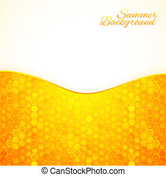 Abstract summer background with honey
