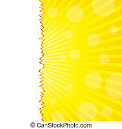 Abstract summer background with torn sunshine, vector sunshine, vector illustration