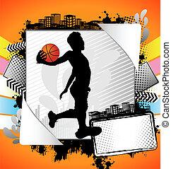 Abstract summer basketball poster