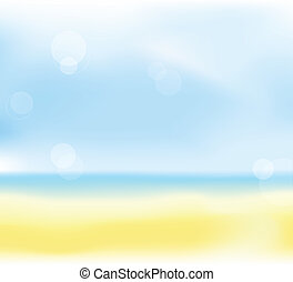 abstract summer beach blur background