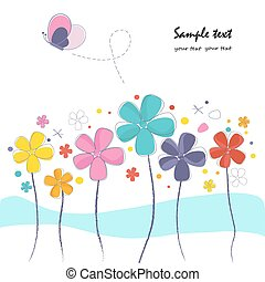 Abstract summer flowers background
