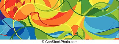 Abstract Summer illustration vector background, Olympic and...