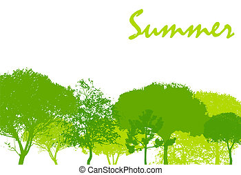 Abstract Summer Natural Background Vector Illustration