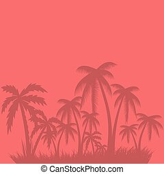 Abstract summer palm tree background. vector eps10