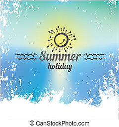 abstract summer paradise beach background . - vector hello...