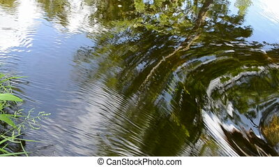 abstract summer river stream