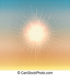 Abstract summer sun colorful mosaic vector background.