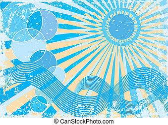 Abstract summer sun
