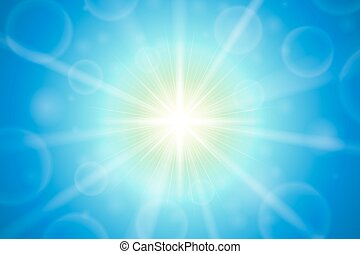 Abstract summer sun lens flare