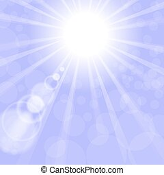 Abstract Sun Background. Blue Summer Pattern
