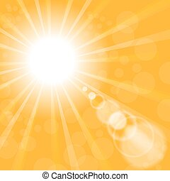 Abstract Sun Background. Yellow Summer Pattern.