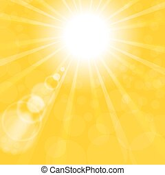 Abstract Sun Background. Yellow Summer Pattern