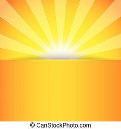 Abstract sun banner