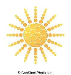 Abstract sun icon