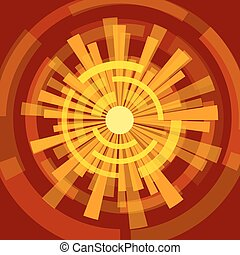 Abstract sun illustration modern
