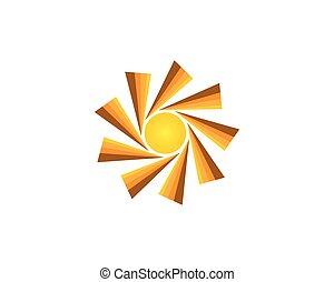 Abstract sun logo vector template