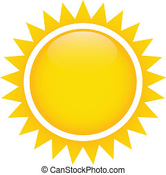 abstract sun on white background