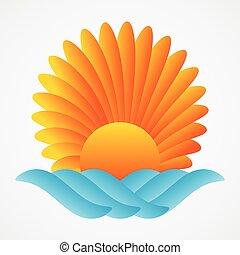 abstract sun sea