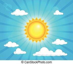 Abstract sun theme